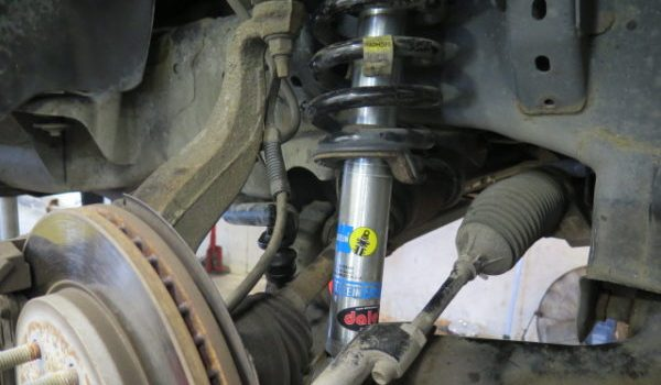 2014 Ford F150 getting new Bilstein 5100 Lift Struts and Rear Shocks at Dales Auto Service