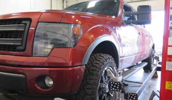 '14 Ford F150 with FOX 2.0 Coilovers and Rear Shocks at Dales Auto Service