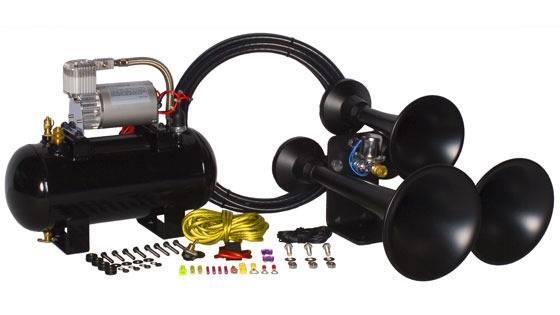Hornblaster HK-C3B-127VX Black Outlaw 127VX Train Horn Kit Dales
