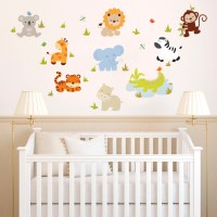 Baby Zoo Animals - Printed Wall Decals Stickers Graphics