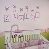 Personalized Wall Decals - monogram wall decals ...