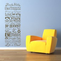 Family Rules - Quote - Sayings - Wall Decals Stickers Graphics