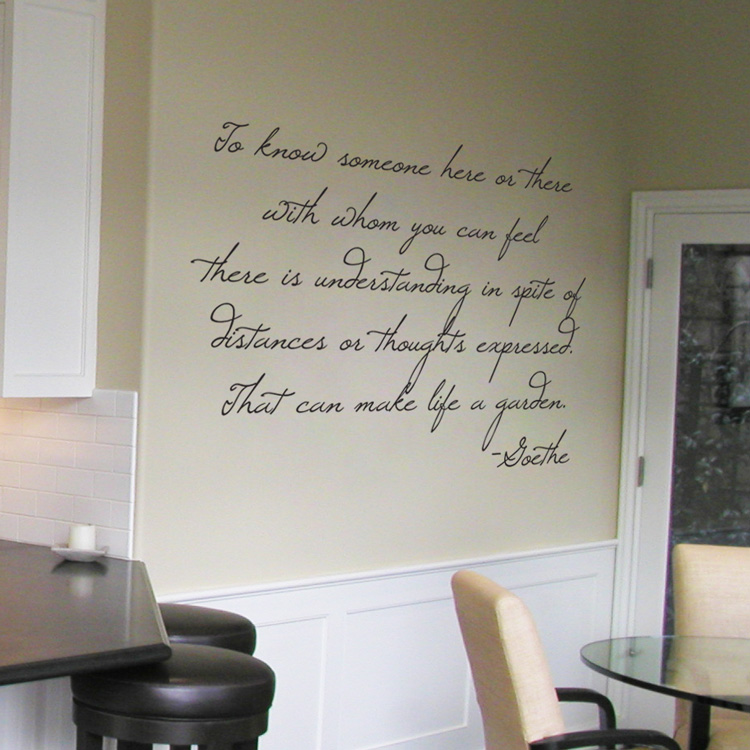 goethe wall words wall decals personalised kitchen wall sticker decals