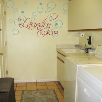 The Laundry Room - Lettering and Bubbles - Wall Decals