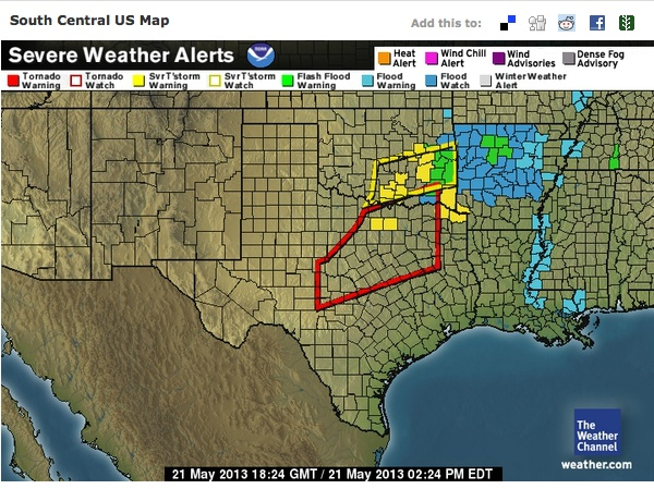 weather channel radar map texas