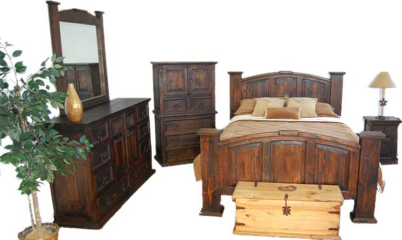 02 1 20 02 50 Dark Mansion Rustic Bedroom Set Million