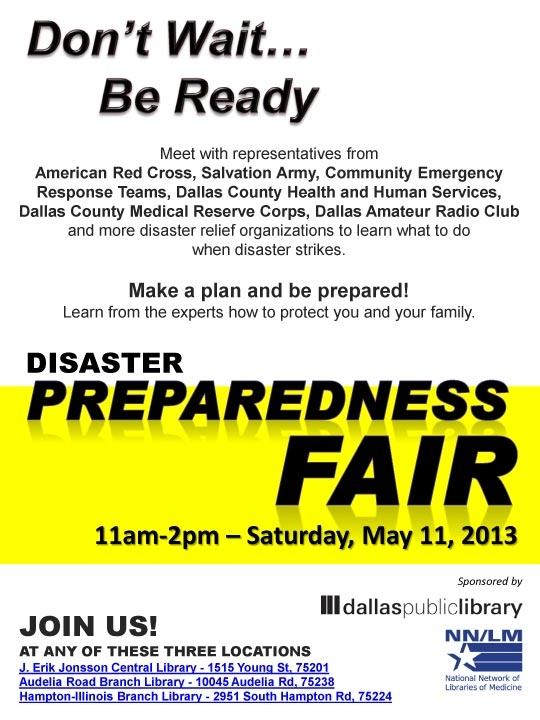 Disaster Preparedness Fair Booked Solid