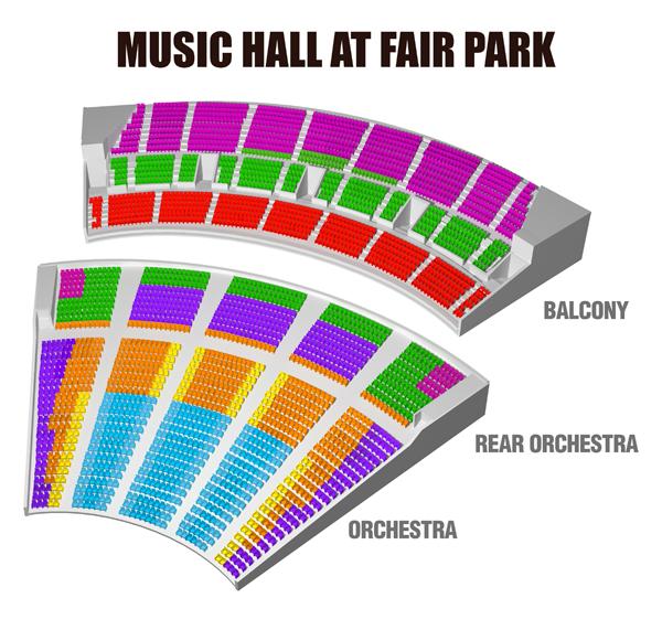 Dallas Summer Musicals Seating Chart - Music hall at fair park