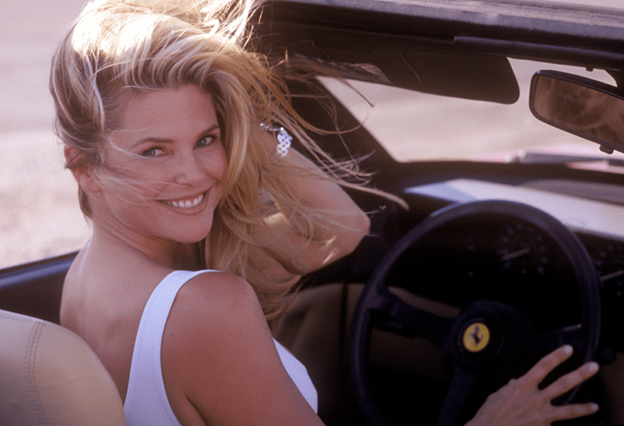 christie-brinkley-vacation-ferrari