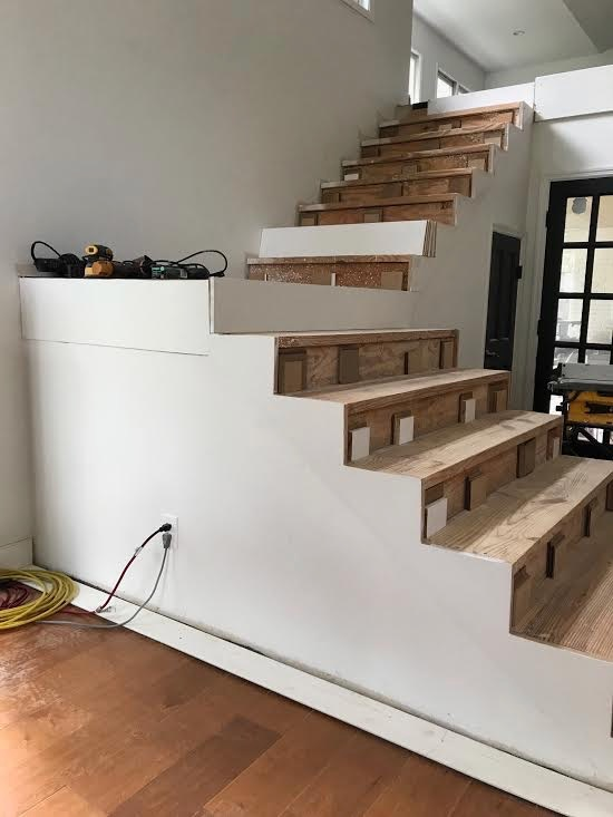 √ Carpeted Staircase To Hardwood Staircase
