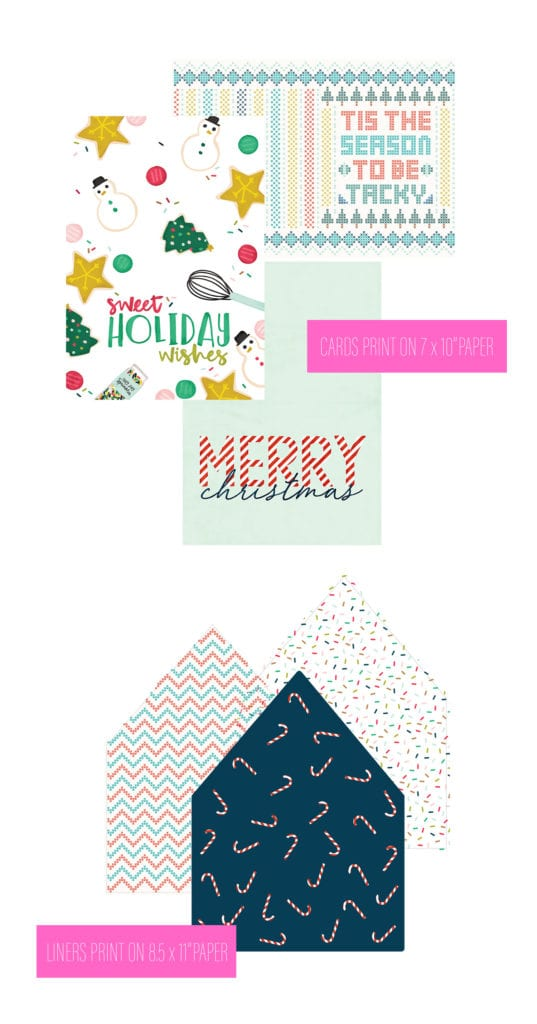 Free Printable Holiday Cards with Canon Damask Love