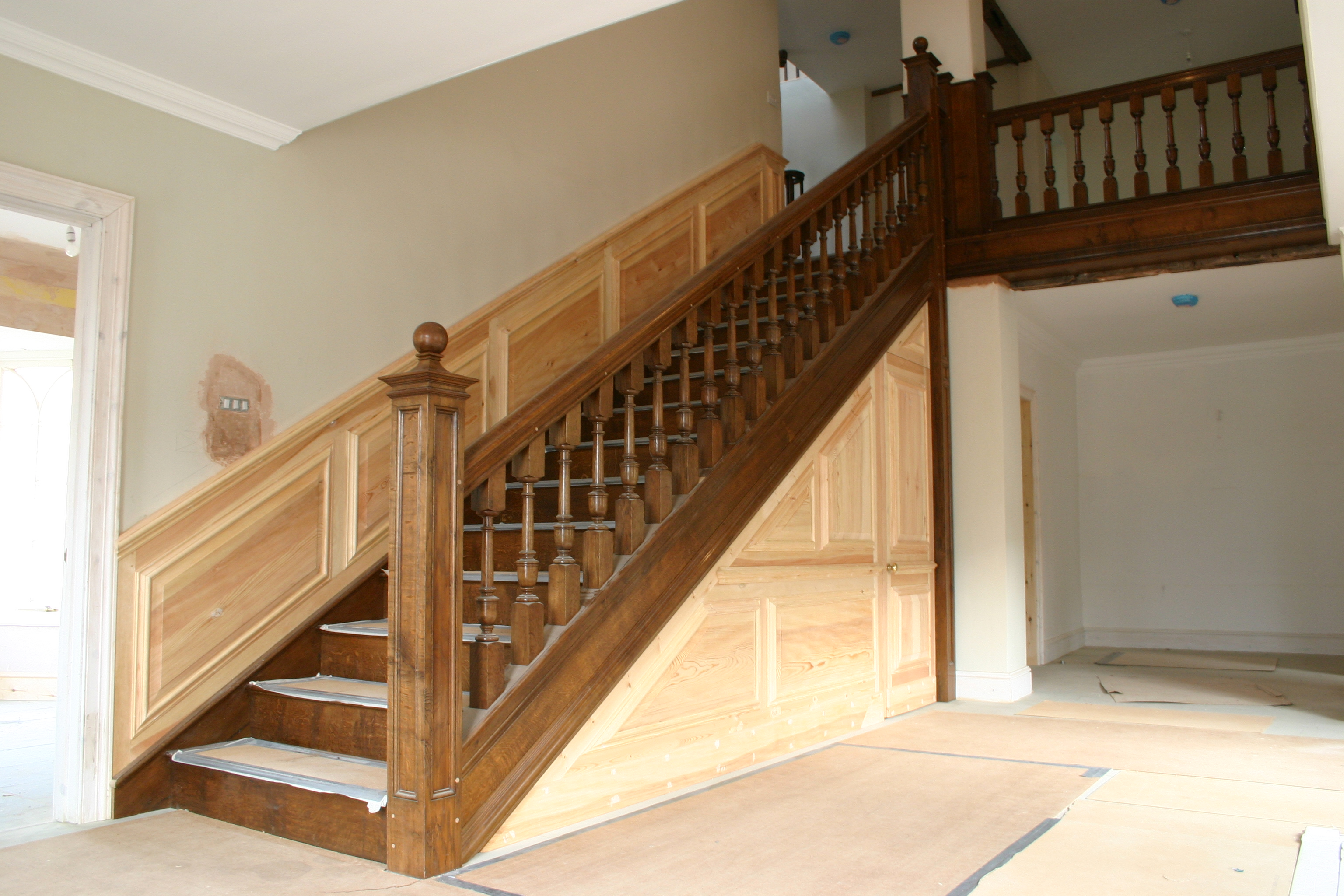 Paneled Staircase Architectural Joinery Damian Price Furniture And Joinery