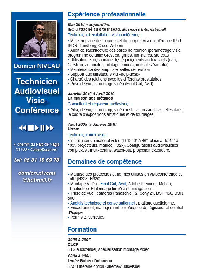 cv et photo obligatoire