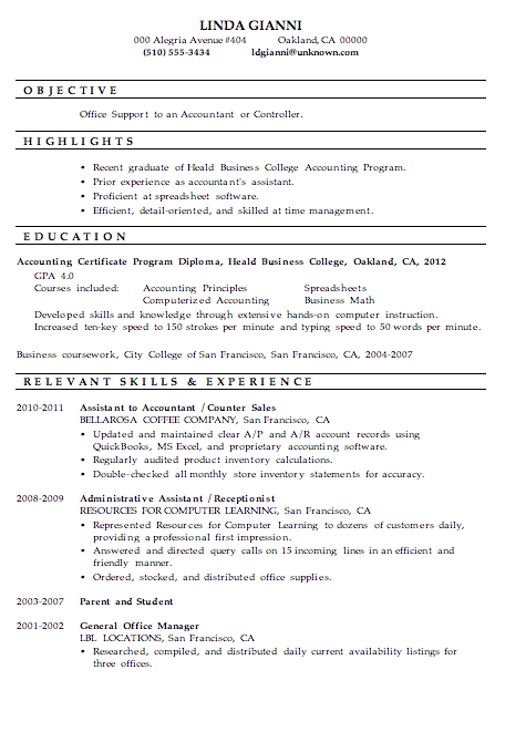 Office Assistant Nonprofit Resume Sample Functional Resume Sample Office Support