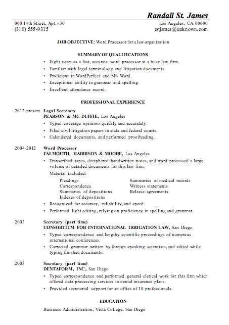 monash career connect resume samples