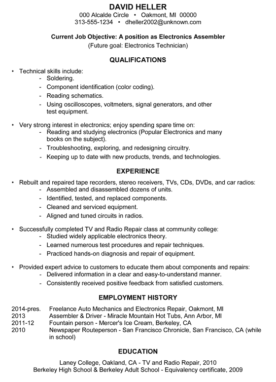 auto mechanic manager resume