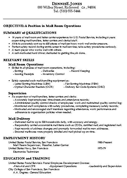 Online Learning A User-Friendly Approach for High School mailroom - mail room supervisor resume