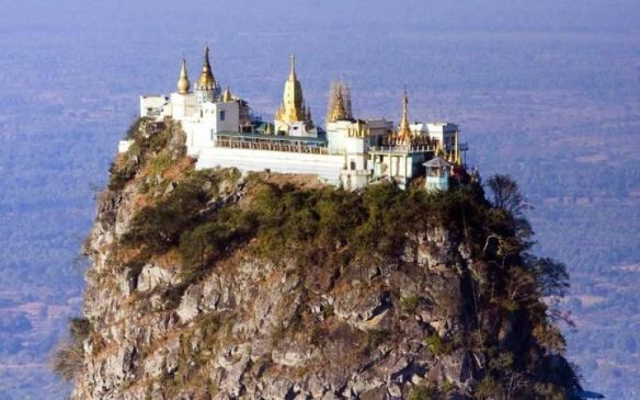 Taung Kalat Monastery in Myanmar is one of the most remote temples in the world.