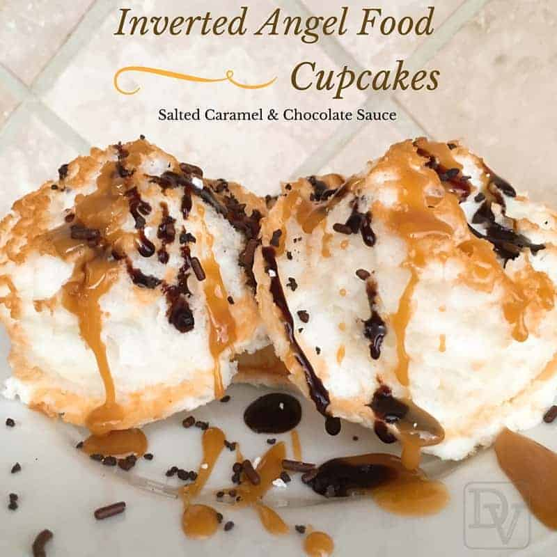 Inverted Angel Food Cupcakes With Salted Caramel and ...