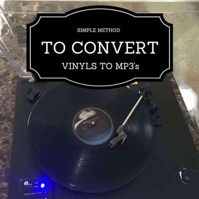 Simple Method To Convert Vinyl Records To MP3