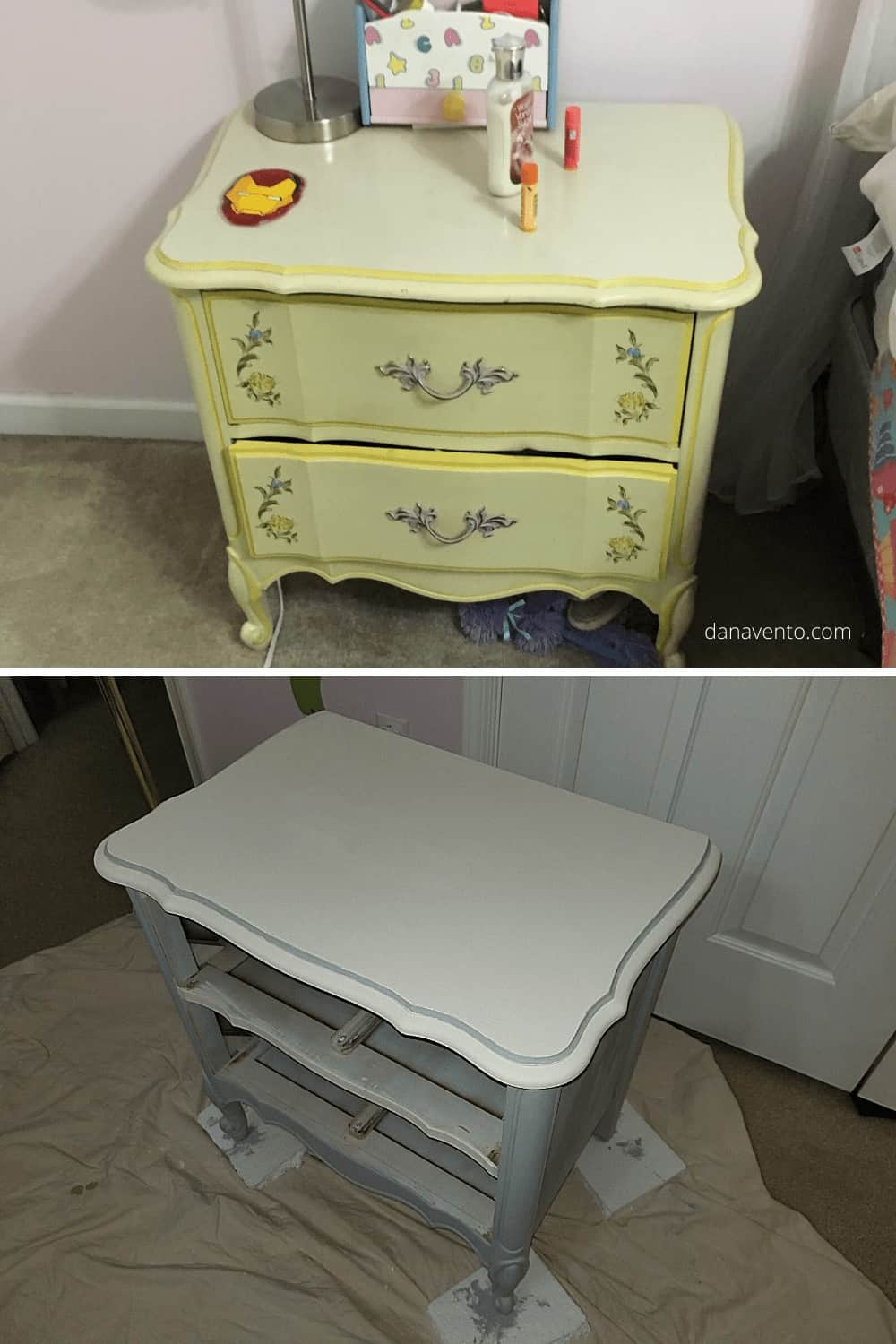 Diy Stunning 2 Color Chalk Paint Bedroom Furniture Makeover