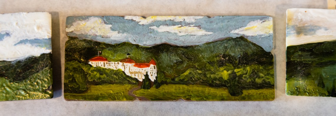 Mount Washington Hotel painted on chocolate
