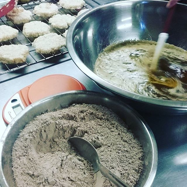 Donna's making coconut macaroon Zen Brownies. Rich is making dough for this weekend's Croissants. #dlccafe #nhfood #manchestereatsnh #croissants #brunch #breakfast