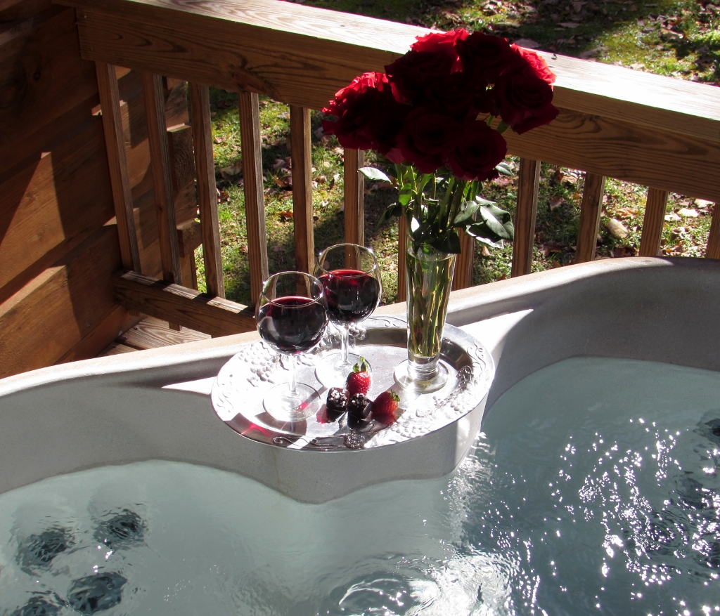 Jacuzzi Full Moon Underwater Pool Light Romantic Log Cabins With Private Hot Tubs Hot Springs Nc Mountains