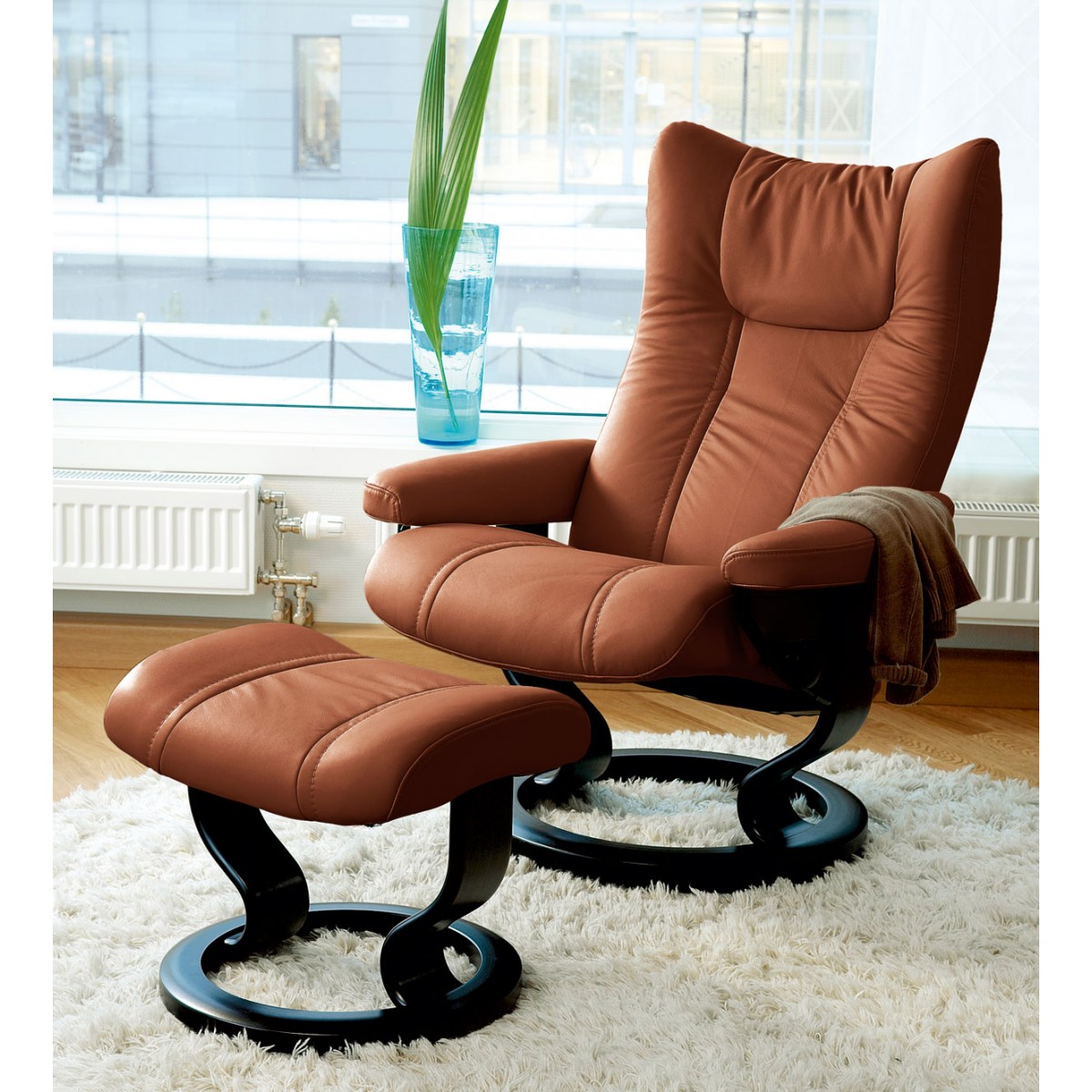 Stressless-world.com Stressless Wing Medium Recliner Ottoman