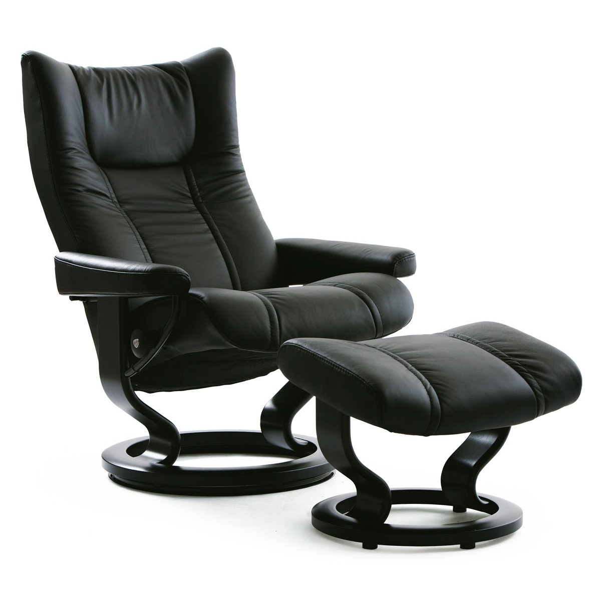 Ekornes Consul Large Stressless Wing Large Recliner And Ottoman From 2 495 05 By