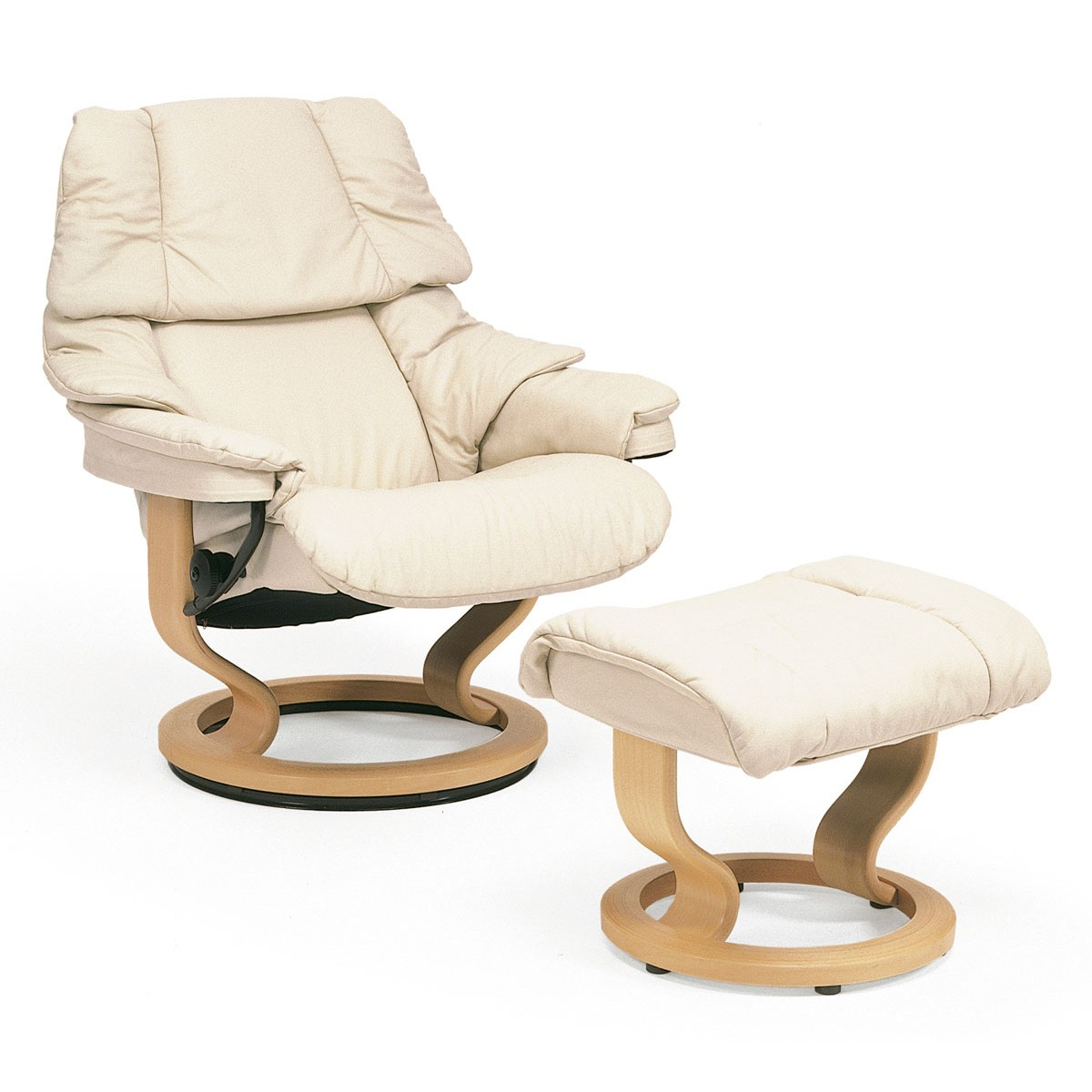 Stressless Reno M Stressless Reno Medium Recliner And Ottoman From 2 895 00