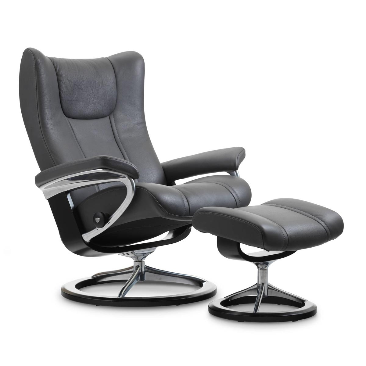 Stresless Stressless Wing Signature Recliner Ottoman