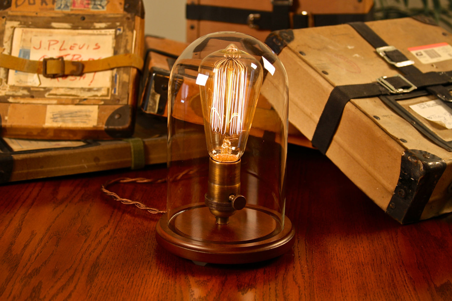Glass Edison Lamp Edison Glass Bell Jar Lamp
