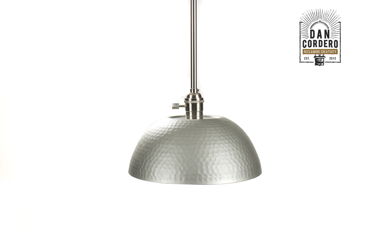 Pendant Lighting Brushed Nickel Hammered Gold And Brushed Nickel Edison Bulb Pendant Light