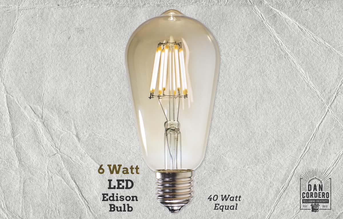 40 Watt Led Led Edison Light Bulb 6 Watt 40 Watt Equal