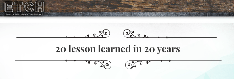 20 lessons learned in 20 years (part 1)