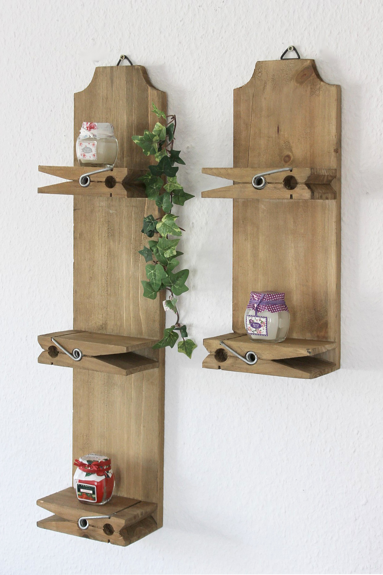 2er Set Wallmounted Shelves 14b460 61 2er Set Seedbox 39cm And 64cm