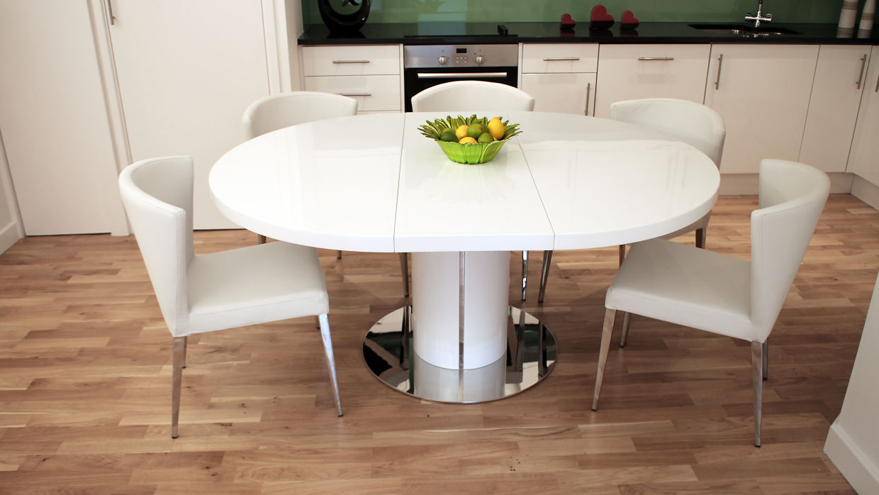 Extending Dining Table Why To Choose A White Gloss Extending Dining Table This Christmas