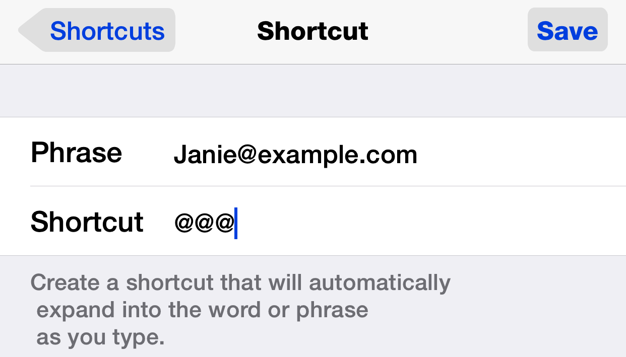 ios new text shortcut dan frakes danfrakes com  at arjmand.co