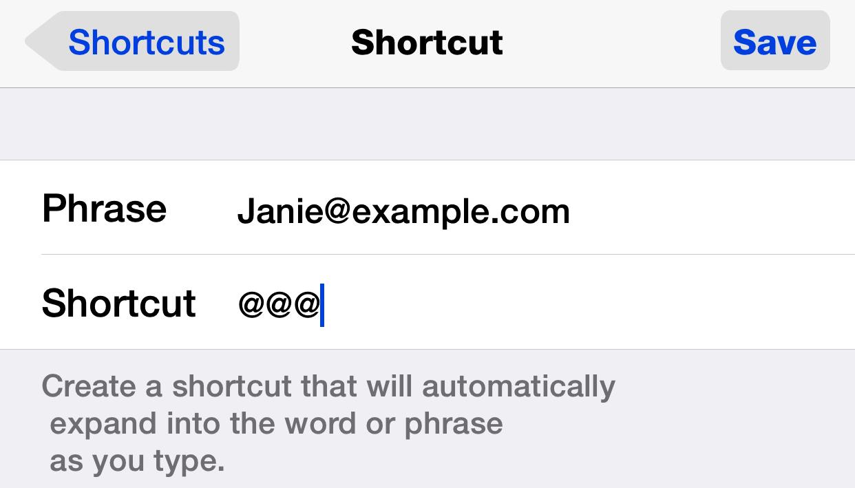 ios new text shortcut dan frakes danfrakes com  at alyssarenee.co