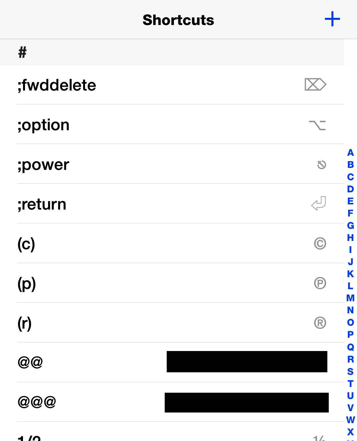 ios text shortcuts dan frakes danfrakes com  at alyssarenee.co