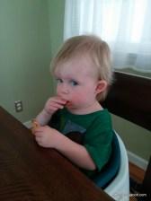Abigail Enjoying Some Pizza