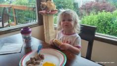 Abby's 2nd birthday, breakfast