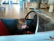 The fighter pilot. At Evergreen Aerospace Museum.