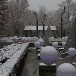 Missouri Botanical Garden After a November Snow.