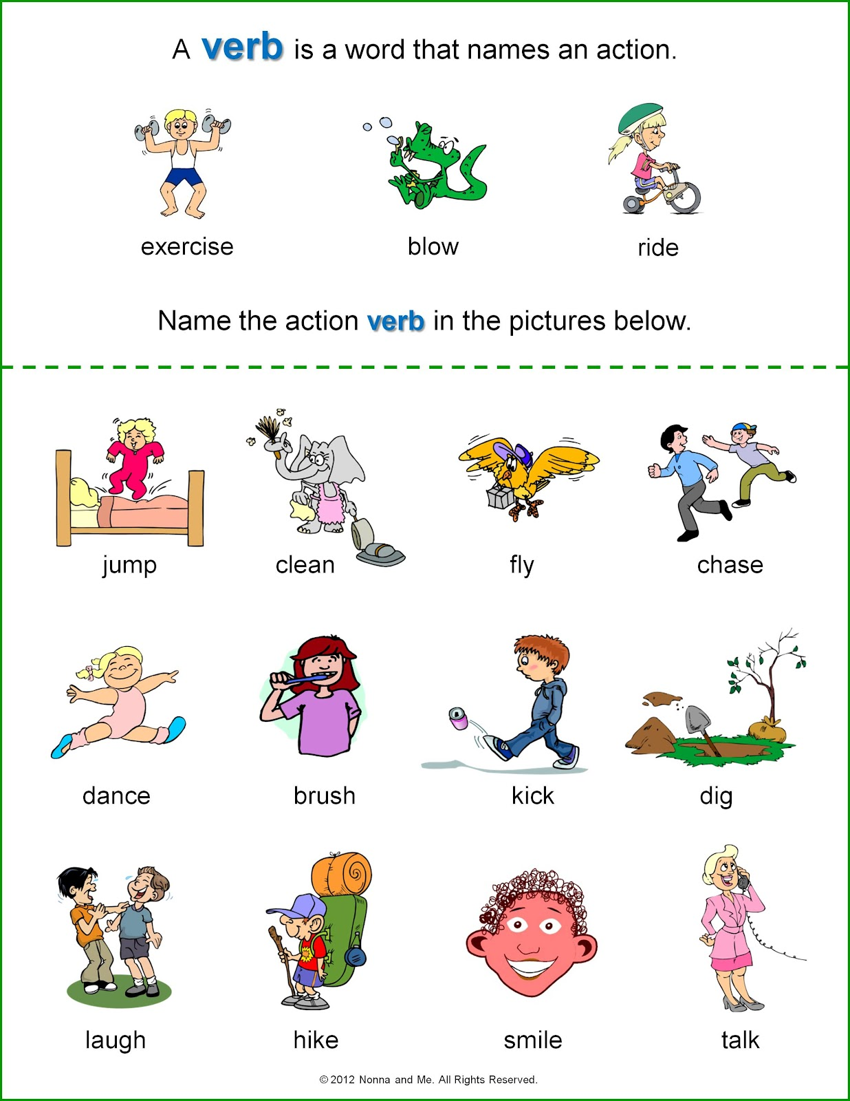 Action Verb Worksheets First Grade Worksheet Pages – Action Verbs Worksheets