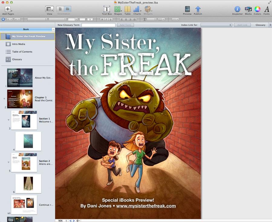 iBooks Author First Impressions and Making a Comic Dani Jones