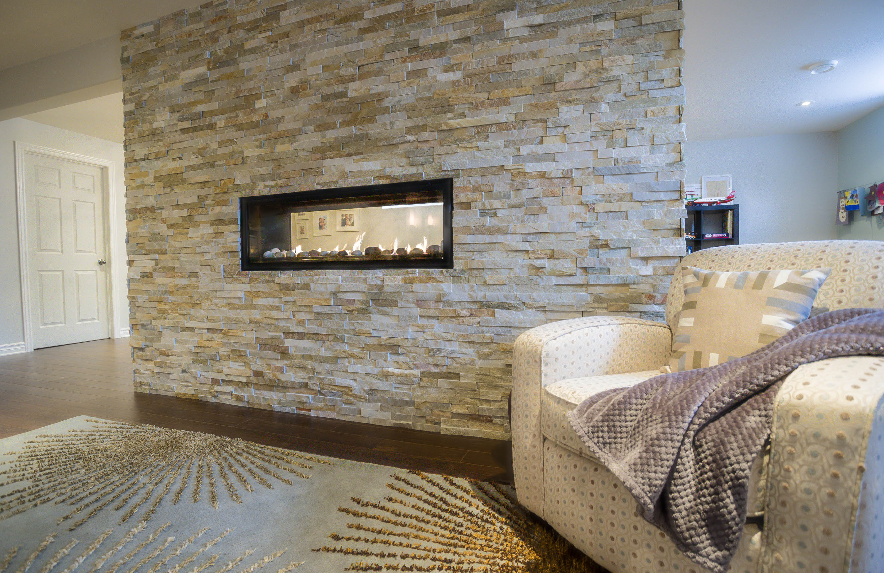 Installing Cultured Stone Fireplace Contemporary Fireplace Featuring Cultured Stone Surround Daniela