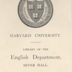 Harvard English Department