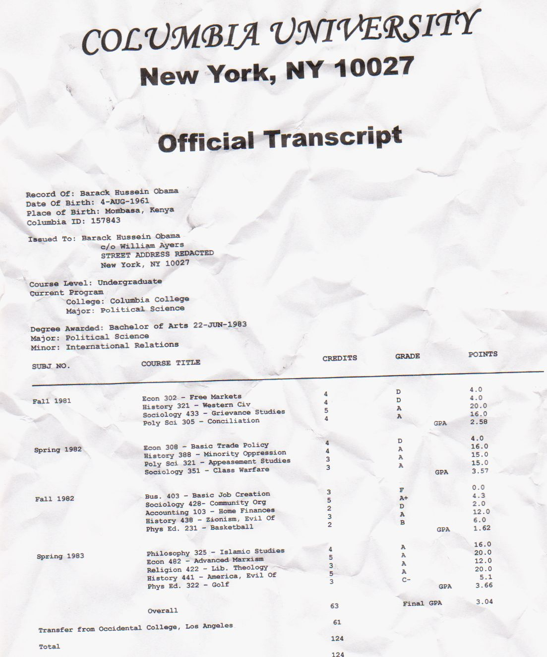 Application Form Buffalo City Tvet College Obama's College Transcript Finally Revealed
